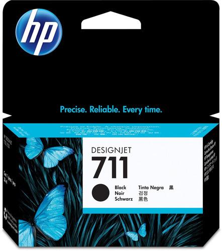 hp hewcz129a 711 38-ml cartucho de tinta negra, negro