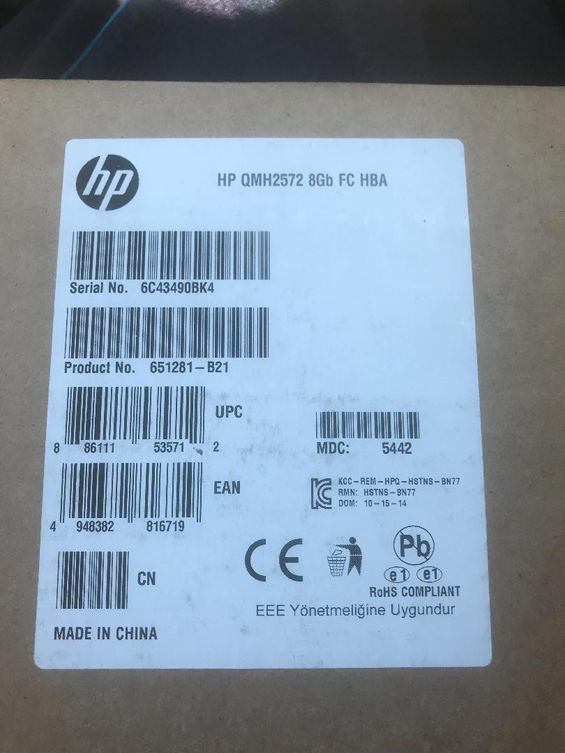 Hp Hp Qmh2572 8gb Fc Hba Card 651281-b21