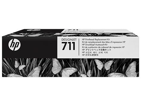 hp kit de reemplazo de cabezales # 711 designjet t120/t520 e