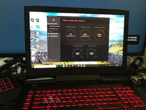 hp laptop 4k omen intel core i7-8750h, 32ram, 17.3 pulg,