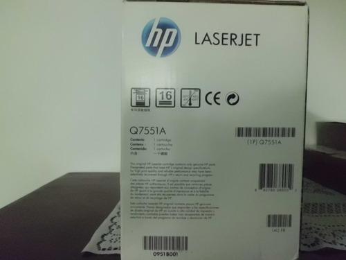 hp laser jet cartucho de impresion original - q7551a