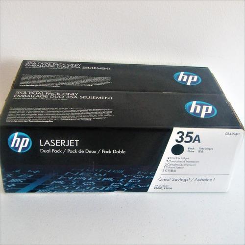 hp laserjet cb435d negro  dual pack (2 toner)