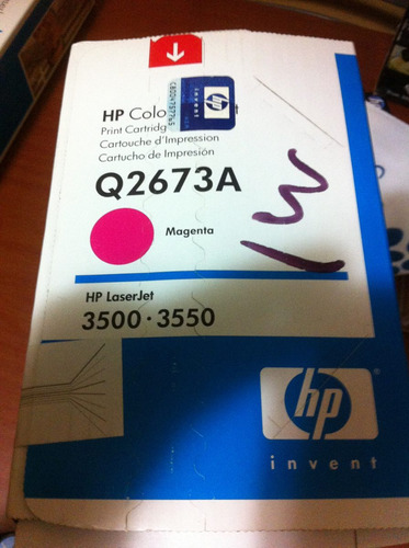 hp laserjet toner magenta q2673a para hp 3500 - 3550