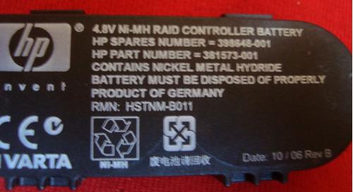hp p400 p600 p800 battery smart array pn 398648