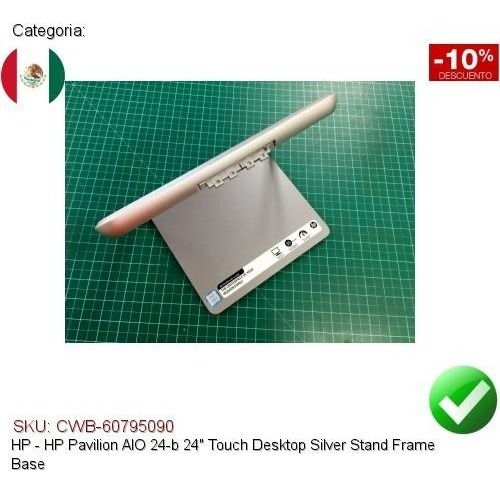 "HP Pavilion AIO 24-b 24/"" Touch Desktop Silver Stand Frame Base"