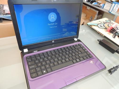 hp pavilion g4-1250la amd  e450 4gb 750gb purple win10 xtras