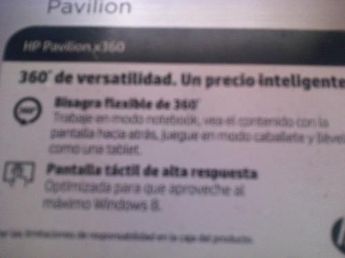 hp pavilion x360 pantalla tactil
