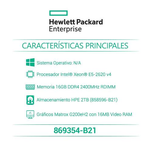 hp servidor proliant dl180 gen9 e5-2620v4 16gb-r 869354-b21