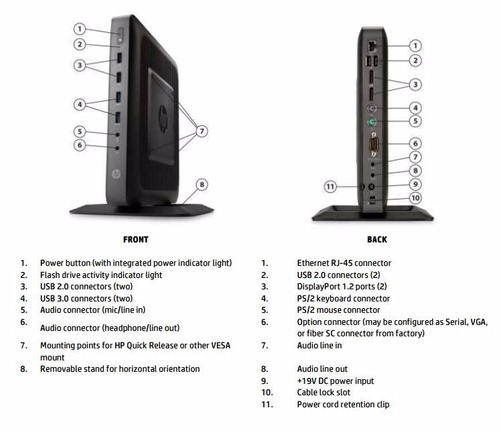 hp t620 flexible thin client envio y adaptador gratis