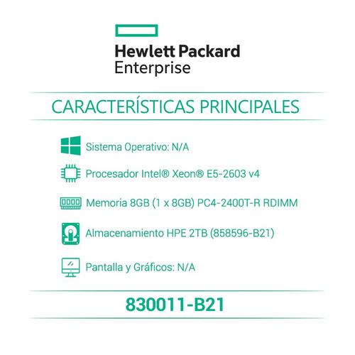 hpe servidor básico proliant dl120 gen9 e5-2603v4 830011-b21