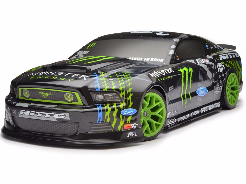hpi racing 111664 110 e10 drift mustang monster energy