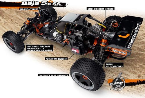 hpi racing 112457 1/5 baja 5b ss gas 26cc kit ¡envio gratis!