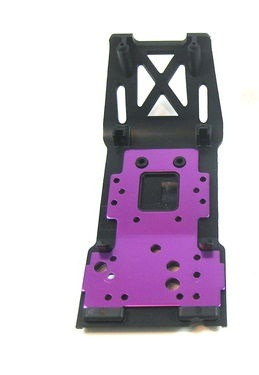 hpi racing - bulkhead lower plate + capa plastica flux x xl