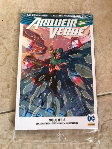 hq arqueiro verde volume 3 dc renascimento 140 páginas