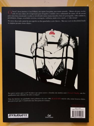hq black kiss - howard chaykin - nacional - novo - raro 2011