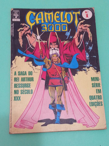 hq camelot 3000 nº 1! editora abril set 1982, d c comics