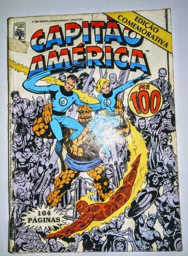 hq - capitão américa - edição comemorativa - nº 100