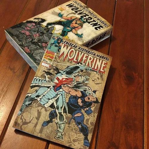 hq coleção histórica marvel wolverine com box completo