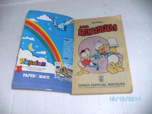 hq disney especial reedição nº91 mil brincadeiras abril-1996