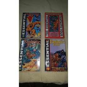 Hq Essential Fantastic Four Nº 1 A 9 Importadas P&b Quarteto