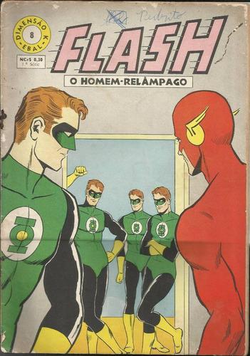 hq flash o homem relampago 1968 (1ª s ebal) nº 8