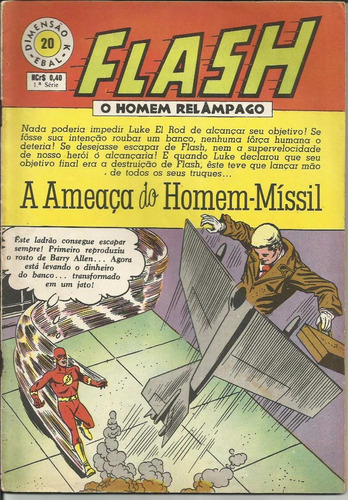 hq flash o homem relâmpago 1969 (1ª ebal) nº 20
