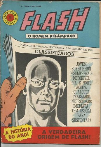 hq flash o homem relâmpago 68 (1ª ebal) nº 11