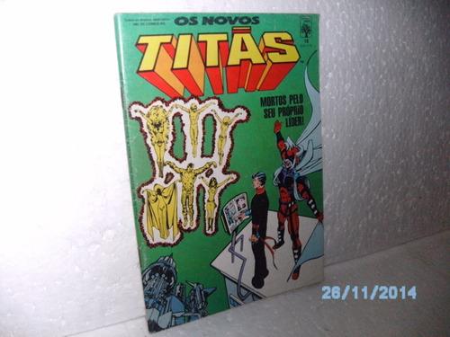 hq formatinho novos titãs nº18 mortos pelo seu...ed.abr/1987