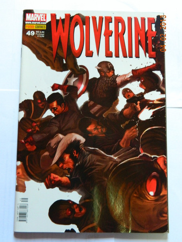 hq gibi xmen marvel nº49 dezembro 2008 wolverine comics