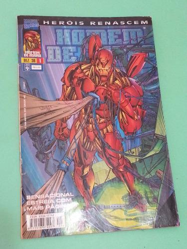 hq- homem de ferro (heróis renascem) nº 1, 1998, marvel