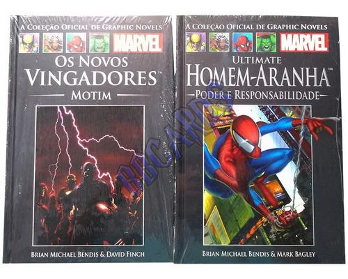 hq marvel coleção oficial graphic novels vingadores x-men