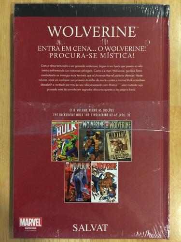 hq marvel salvat capa vermelha nº 3 wolverine - lacrado!!!