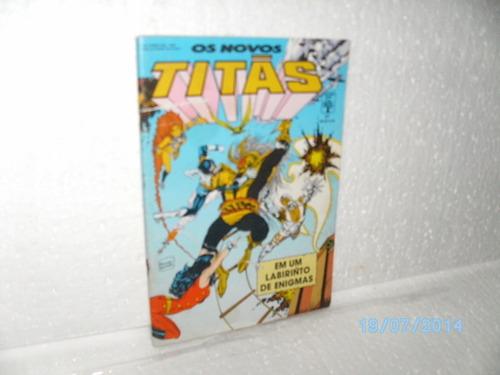 hq novos titãs nº37 labirinto enígmas - abril/89