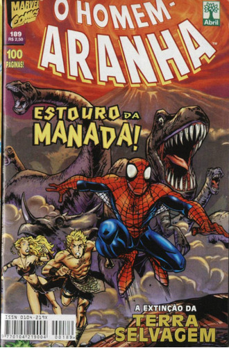 hq - o homem aranha nº 189 editora abril ano 1999