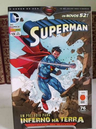 hq - os novos 52 - superman nº13 - inferno na terra