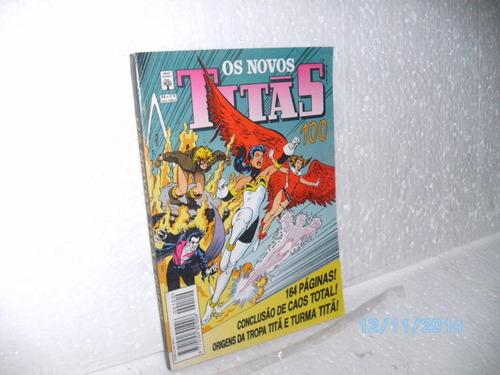 hq os novos titãs # 100 com 164 páginas abril1994 ótimo gibi