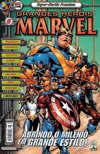 hq - super heróis premium - grandes heróis marvel nº6