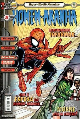hq - super heróis premium - homem aranha nº5 ed abril 2000