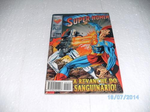 hq super - homem - revista de aço - nº144 equipe fj