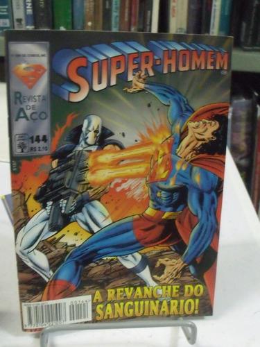 hq - super-homem - revista de aço - nº144 - revanche