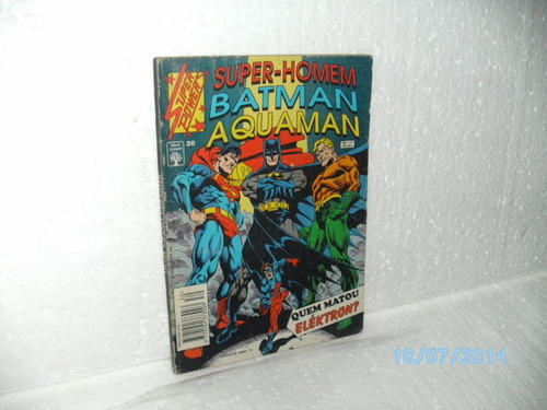 hq super powers nº30 super homem /batman/aquaman abril/1994