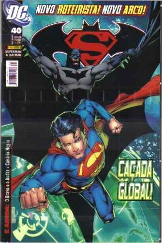 hq - superman & batman nº 40 ano 2009