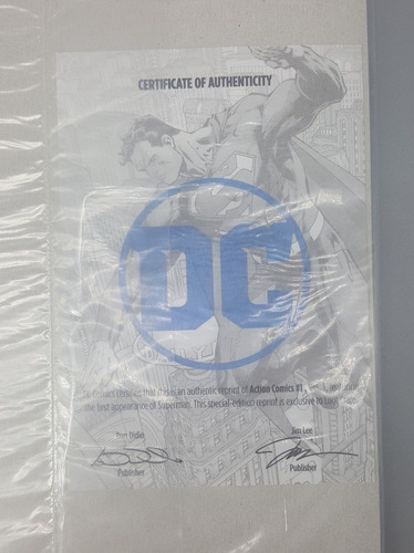 hq superman gibi no. 1 dc action comics c/ certificado - bqt