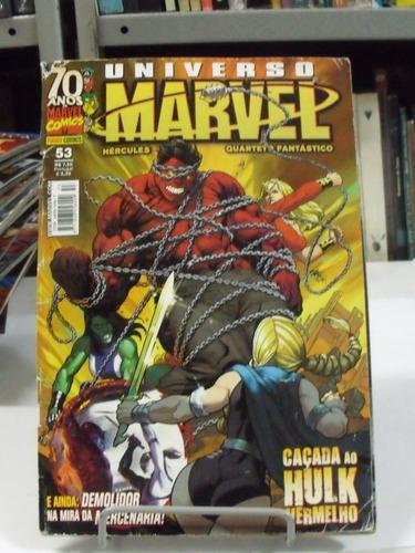 hq universo marvel caçada ao hulk vermelho - nº 53