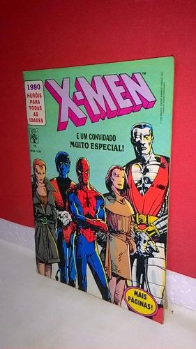 hq x-men # 15 e um convidado muito especial abril/1990 eq fj
