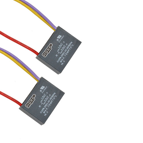 hqrp 2 pack ceiling fan capacitor cbb61 1.5uf+2.5uf 3 wire p
