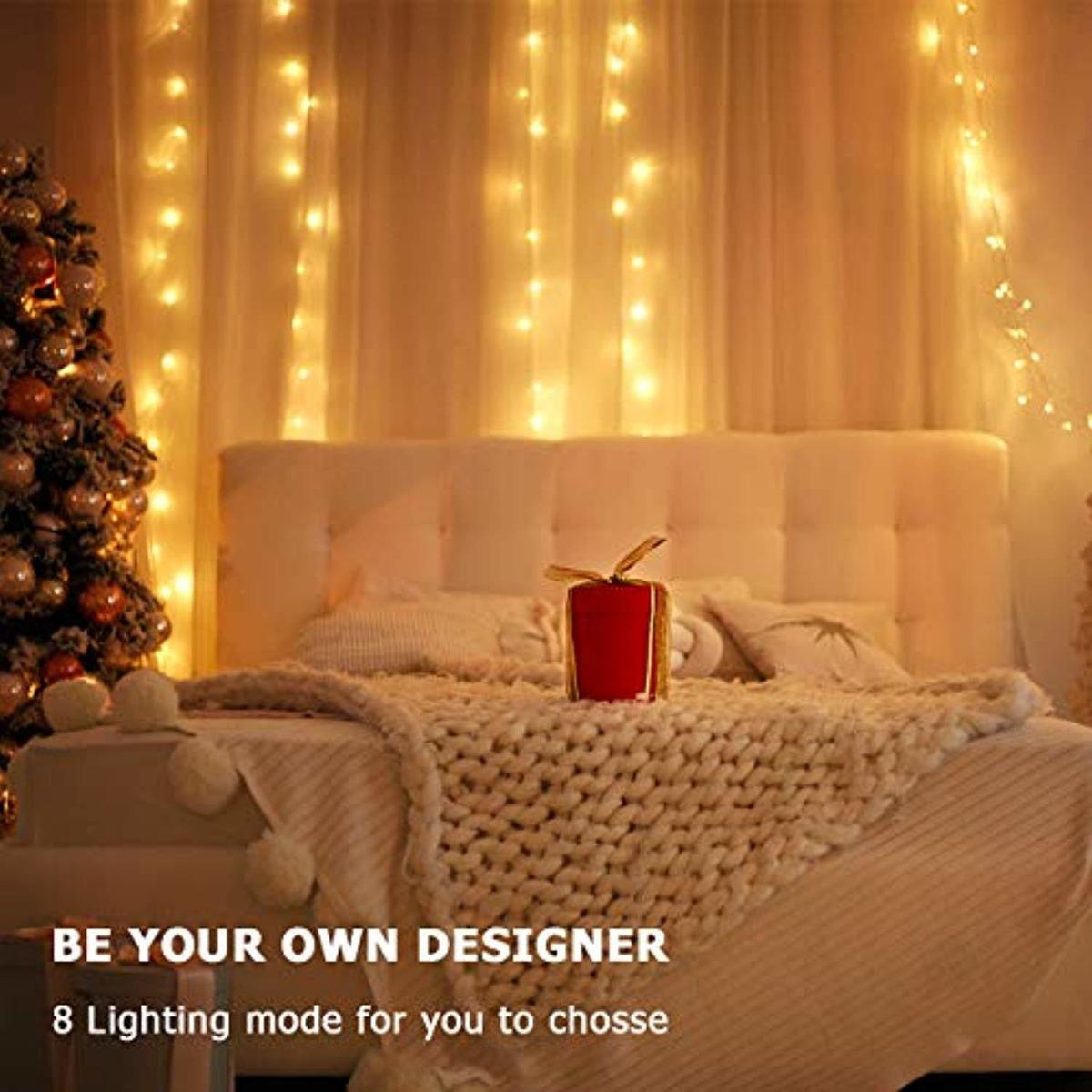 HSicily LED USB String Lights 8 Modes 33Ft 100 LEDs Starry Fairy Lights Plug in