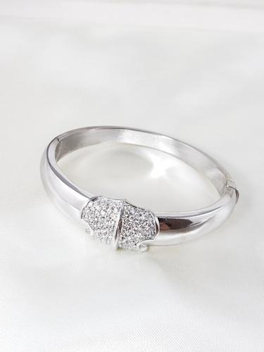 hstern bracelete ouro branco cravejado de brilhantes extra