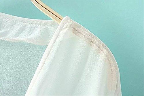 hsumonre kimono de chal para mujer liso gasa