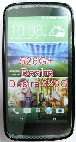 htc desire 526 526g forro + lamina protectora